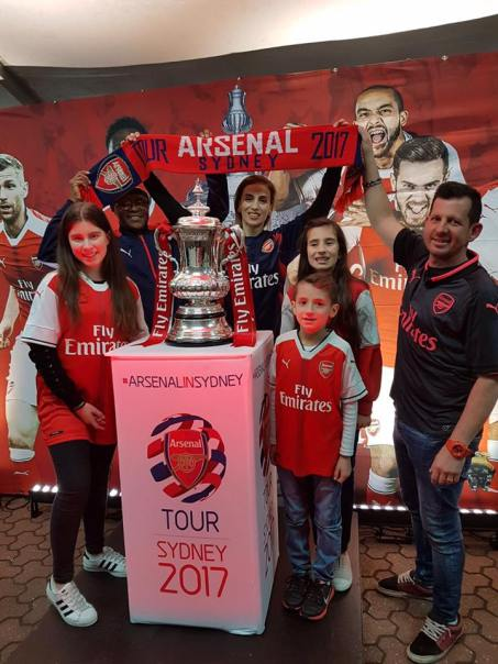 Frketic family with the FA Cup