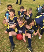 Cooper - and his team mates U8 Sharks