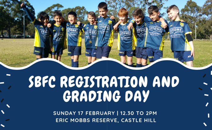 Who should come to the SBFC Registration and Grading day?